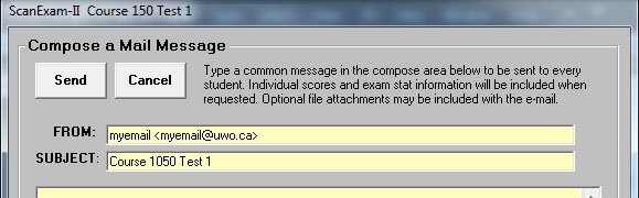 Mail window with myemail <myemail@uwo.ca>